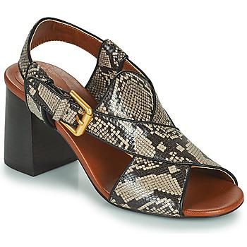 Schuhe Damen Sandalen / Sandaletten See by Chloé HELLA Beige / Grau