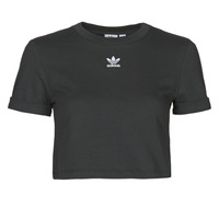 Kleidung Damen T-Shirts adidas Originals CROP TOP Schwarz