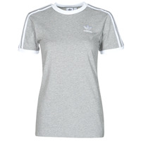 Kleidung Damen T-Shirts adidas Originals 3 STRIPES TEE Grau
