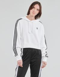 Kleidung Damen Sweatshirts adidas Originals SHORT HOODIE Weiss