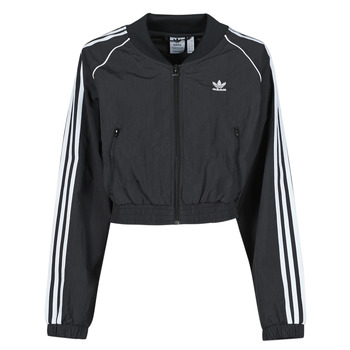 Kleidung Damen Trainingsjacken adidas Originals SHORT TRACKTOP Schwarz