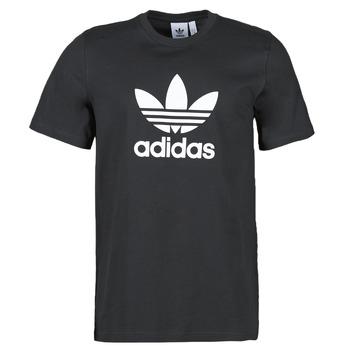Kleidung Herren T-Shirts adidas Originals TREFOIL T-SHIRT Schwarz