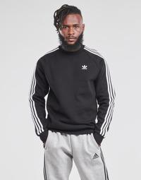 Kleidung Herren Sweatshirts adidas Originals 3-STRIPES CREW Schwarz
