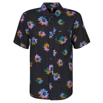 Kleidung Herren Kurzärmelige Hemden Volcom PLEASURE CRUISE S/S Schwarz