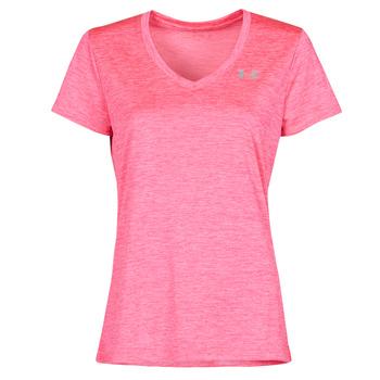Kleidung Damen T-Shirts Under Armour TECH SSV Rose