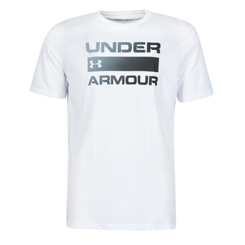 Kleidung Herren T-Shirts Under Armour UA TEAM ISSUE WORDMARK SS Weiss