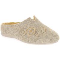 Schuhe Damen Hausschuhe Emanuela 1527 GIALLO DOU Giallo
