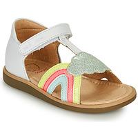 Schuhe Mädchen Sandalen / Sandaletten Shoo Pom TITY RAINBOW Weiss