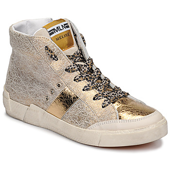 Schuhe Damen Sneaker High Meline NK1384 Gold