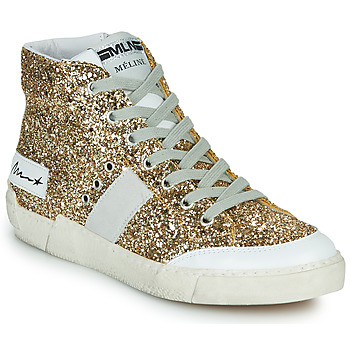 Schuhe Damen Sneaker High Meline NKC1369 Gold