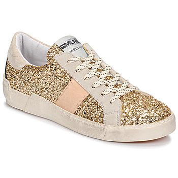 Schuhe Damen Sneaker Low Meline NKC1381 Gold