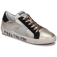 Schuhe Damen Sneaker Low Meline NK1382 Bronze / Schwarz