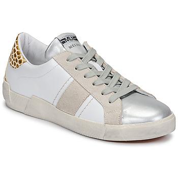 Schuhe Damen Sneaker Low Meline NK1381 Weiss / Beige