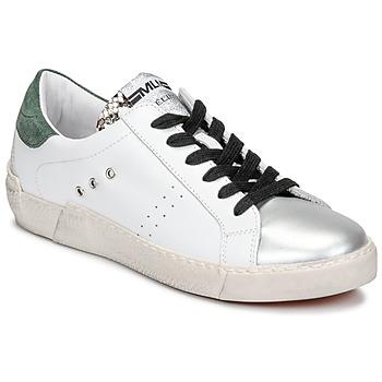 Schuhe Damen Sneaker Low Meline NKC1392 Weiss / Grün