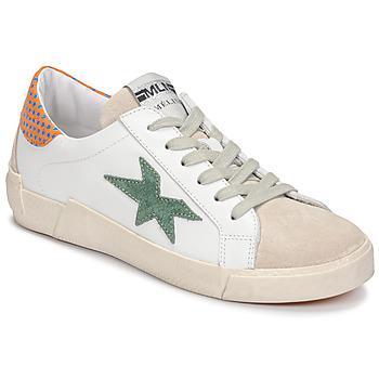 Schuhe Damen Sneaker Low Meline NK1364 Weiss / Grün