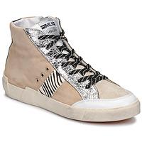 Schuhe Damen Sneaker Low Meline NK1384 Beige / Olive / gelb