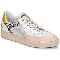 Schuhe Damen Sneaker Low Meline BZ180 Weiss / Rose