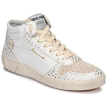 Schuhe Damen Sneaker High Meline NK1409 Weiss