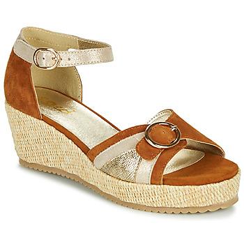 Schuhe Damen Sandalen / Sandaletten Sweet ESTERS Gold / Camel