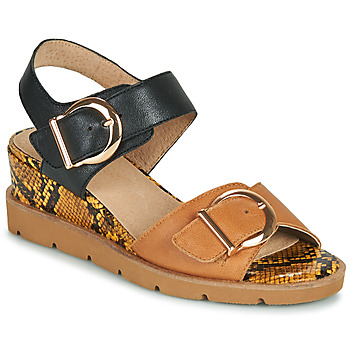 Schuhe Damen Sandalen / Sandaletten Sweet ETOXYS Schwarz / Camel
