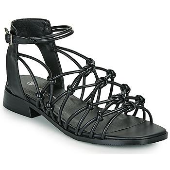 Schuhe Damen Sandalen / Sandaletten The Divine Factory LS1793H Schwarz