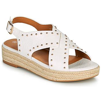Schuhe Damen Sandalen / Sandaletten The Divine Factory LS1802J Weiss