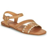 Schuhe Damen Sandalen / Sandaletten The Divine Factory TX4339 Camel