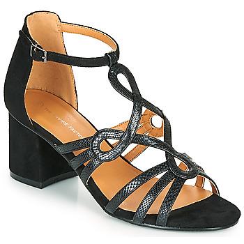 Schuhe Damen Sandalen / Sandaletten The Divine Factory QL4327 Schwarz