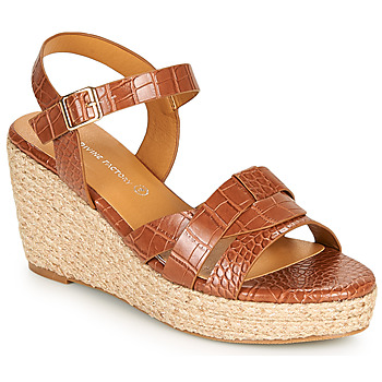 Schuhe Damen Sandalen / Sandaletten The Divine Factory QL4351 Camel