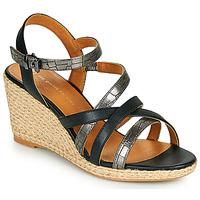 Schuhe Damen Sandalen / Sandaletten The Divine Factory QL4354 Schwarz