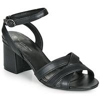Schuhe Damen Sandalen / Sandaletten The Divine Factory LS2115 Schwarz