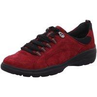 Schuhe Damen Sneaker Low Semler Schnuerschuhe SAMT-CHEVRO/MESH J4015553/977 rot