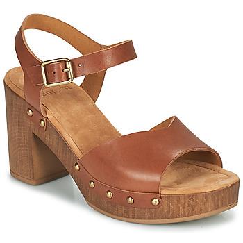 Schuhe Damen Sandalen / Sandaletten Unisa TACO Camel