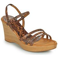 Schuhe Damen Sandalen / Sandaletten Unisa RENERA Braun