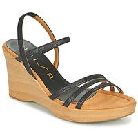 Schuhe Damen Sandalen / Sandaletten Unisa RENERA Schwarz
