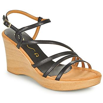 Schuhe Damen Sandalen / Sandaletten Unisa RABAL Schwarz