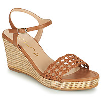 Schuhe Damen Sandalen / Sandaletten Unisa LOBI Camel