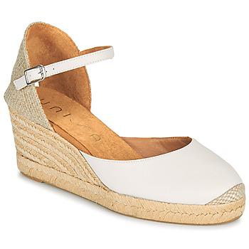 Schuhe Damen Sandalen / Sandaletten Unisa CACERES Weiss