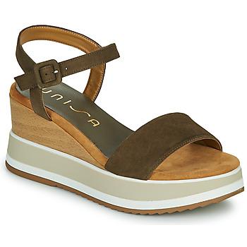 Schuhe Damen Sandalen / Sandaletten Unisa KOLLA Kaki