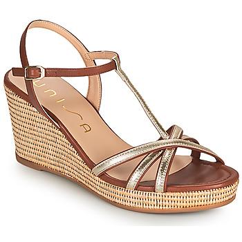 Schuhe Damen Sandalen / Sandaletten Unisa LLINAR Gold