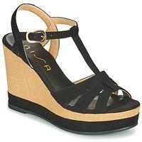 Schuhe Damen Sandalen / Sandaletten Unisa MANACOR Schwarz
