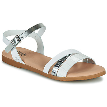 Schuhe Mädchen Sandalen / Sandaletten Citrouille et Compagnie OBINOU Weiss / Silbern