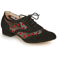 Schuhe Damen Richelieu Fericelli ABIAJE Schwarz / Rot