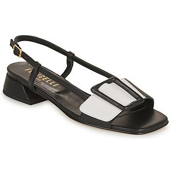 Schuhe Damen Sandalen / Sandaletten Fericelli PANILA Schwarz / Weiss
