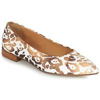 Schuhe Damen Ballerinas Fericelli SELENA Weiss / Gold