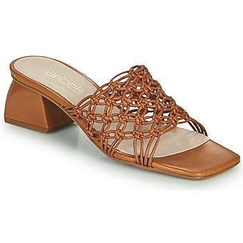 Schuhe Damen Pantoffel Fericelli TELIA Camel