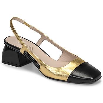 Schuhe Damen Pumps Fericelli TIBET Gold / Schwarz