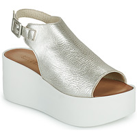 Schuhe Damen Sandalen / Sandaletten Sweet Lemon PYTON Silbern