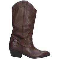 Schuhe Damen Klassische Stiefel Made In Italia 003. Texano Frau BRAUN BRAUN