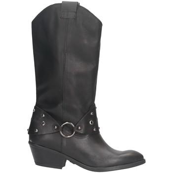 Schuhe Damen Klassische Stiefel Made In Italia 003. Texano Frau SCHWARZ SCHWARZ